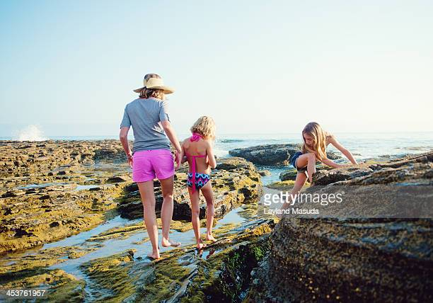 Tide Pools - Beach Mom With Daughters