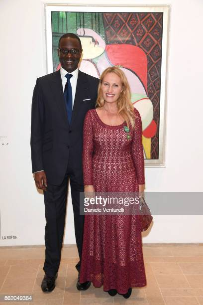 Tidjane Thiam attends a cocktail in honour of Diana Widmaier Picasso and Alexander SC Rower awarded with the Chevalier and Officier de l'Ordre des...
