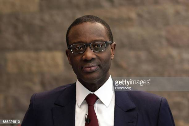 Tidjane Thiam chief executive officer of Prudential Plc poses for a photograph ahead of a Bloomberg Television interview on the 'Leaders Lunch' show...