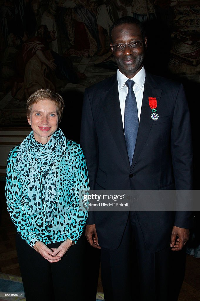 Tidjane Thiam President of the ABE and former politician Chief Executive of Prudential and Laurence Parisot President of the MEDEF at Cercle...