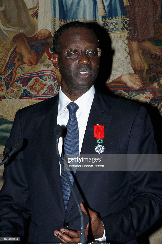 Tidjane Thiam President of the ABE and former politician Chief Executive of Prudential gives a speech at Cercle Interallie on October 5, 2012 in Paris, France.