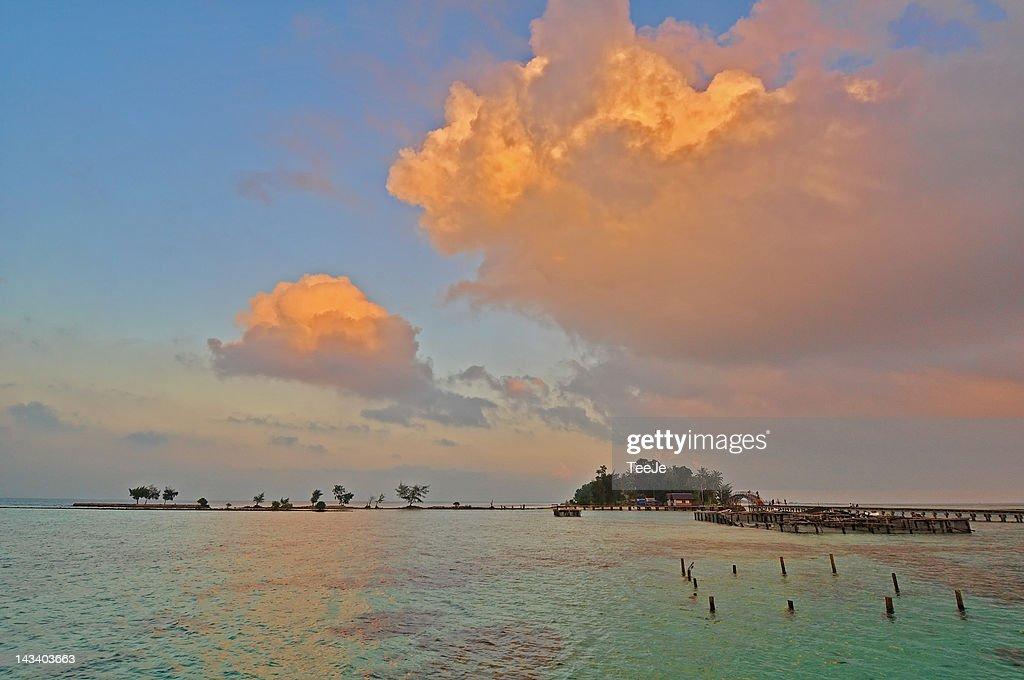 Tidung Island in North Jakarta : Stock Photo