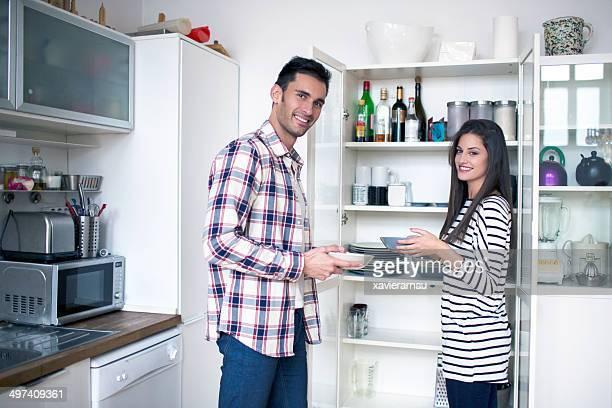 Aufräumen der Küche