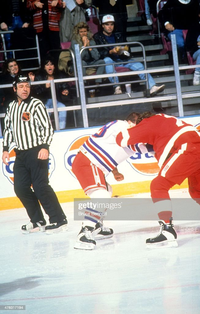 ... Tie Domi 28 of the New York Rangers fights with Bob Probert 24 of ... aea848bcb