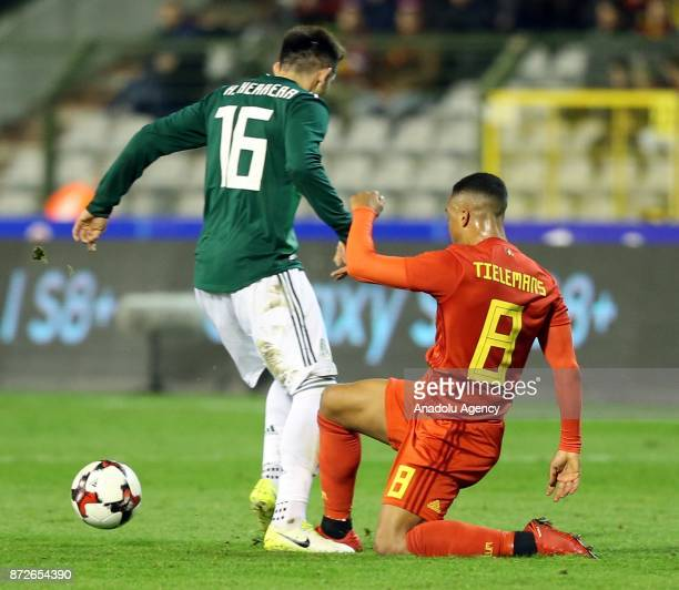 Tielemans of Belgium in action during the international friendly match between Belgium and Mexico at King Baudouin Stadium in Brussels Belgium on...