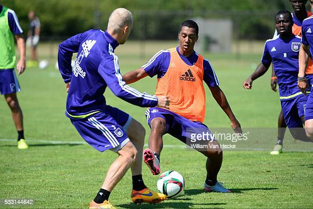 Tielemans Youri midfielder of Rsc Anderlecht pictured during the training session of RSC Anderlecht at the Irene Sportcomplex in Tegelen on juli 10...