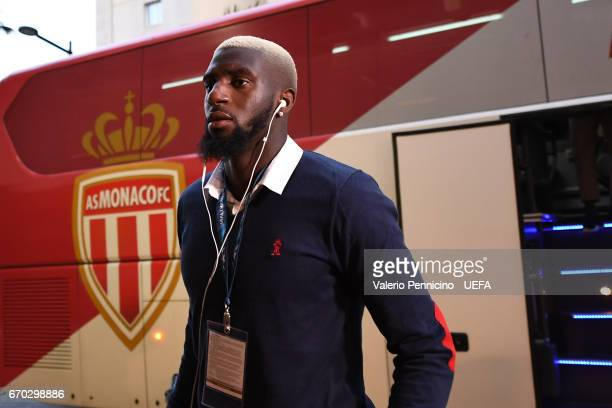 Tiemoue Bakayoko of AS Monaco FC walks to the dressing room prior to the UEFA Champions League Quarter Final second leg match between AS Monaco and...