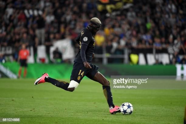 Tiemoue Bakayoko of AS Monaco in action during the UEFA Champions League semi final second leg match between Juventus v AS Monaco at Juventus Stadium...