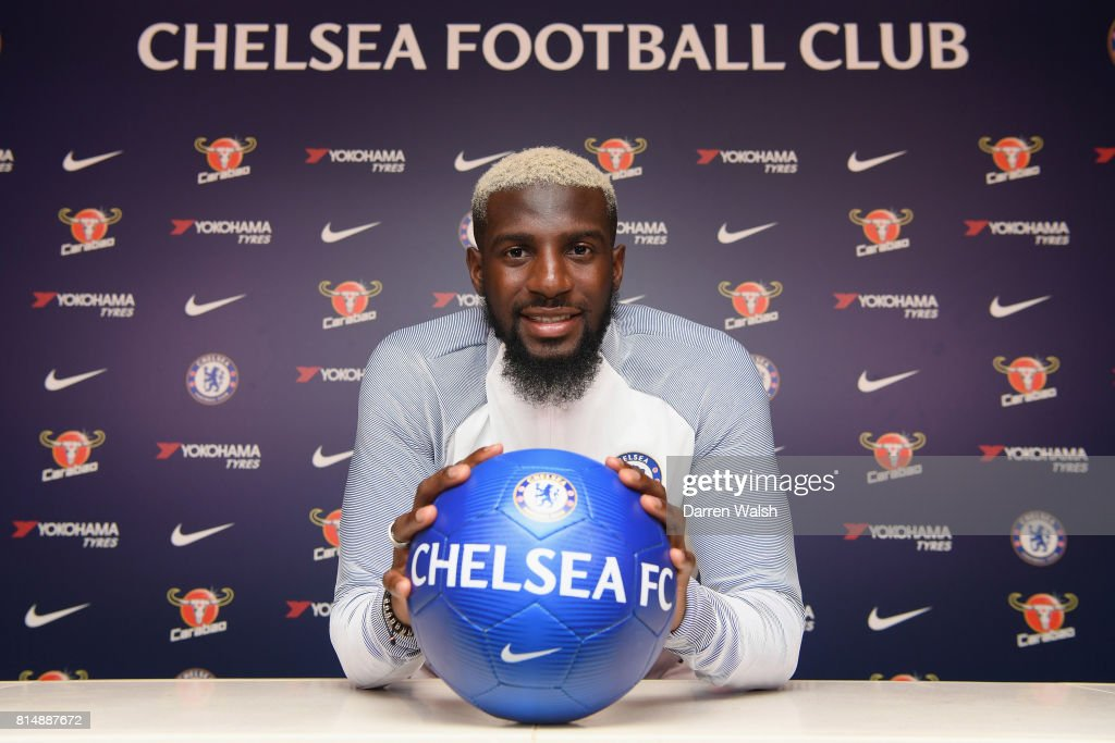 Tiemoue Bakayoko of Chelsea after signing his 5 year contract for Chelsea at Chelsea Training Ground on July 15, 2017 in Cobham, England.