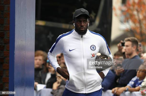 Tiemoue Bakayoko of Chelsea arrives at the stadium prior to the Premier League match between Crystal Palace and Chelsea at Selhurst Park on October...