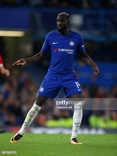 Tiemoue Bakayoko of Chelsea during the Carabao Cup Third Round match between Chelsea and Nottingham Forest at Stamford Bridge on September 20 2017 in...
