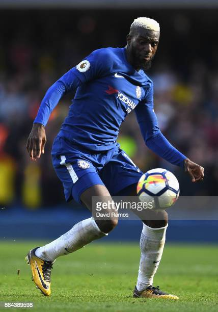 Tiemoue Bakayoko of Chelsea during the Premier League match between Chelsea and Watford at Stamford Bridge on October 21 2017 in London England