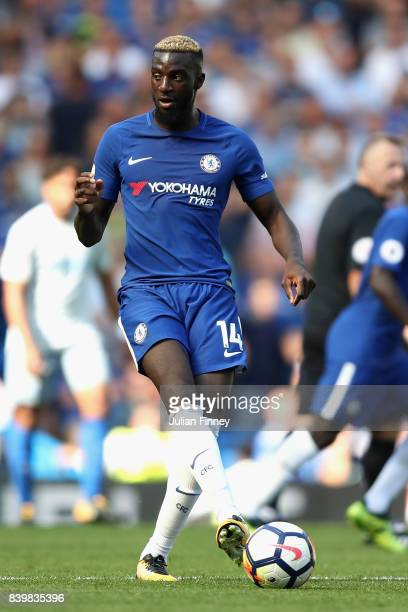 Tiemoue Bakayoko of Chelsea in action during the Premier League match between Chelsea and Everton at Stamford Bridge on August 27 2017 in London...