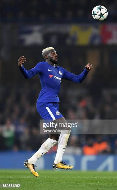 Tiemoue Bakayoko of Chelsea in action during the UEFA Champions League group C match between Chelsea FC and AS Roma at Stamford Bridge on October 18...
