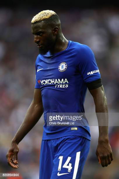 Tiemoue Bakayoko of Chelsea looks on during the Premier League match between Tottenham Hotspur and Chelsea at Wembley Stadium on August 20 2017 in...