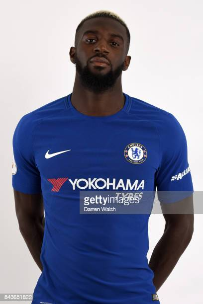 Tiemoue Bakayoko of Chelsea poses during the Chelsea photo call at Chelsea Training Ground on August 8 2017 in Cobham England