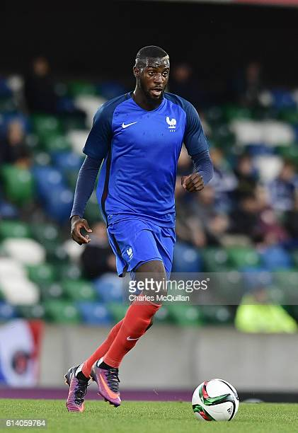Tiemoue Bakayoko of France during the UEFA European 2017 U21 qualifier between Northern Ireland and France at Windsor Park on October 11 2016 in...