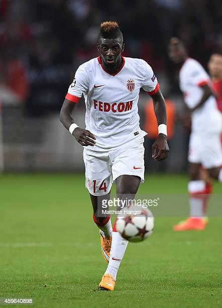 Tiemoue Bakayoko of Monaco controls the ball during the UEFA Champions League group C match between Bayer 04 Leverkusen and AS Monaco FC at BayArena...