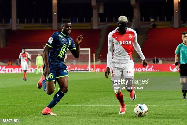 Tiemoue Bakayoko of Monaco during the Ligue1 match between As Monaco and Lille OSC at Louis II Stadium on May 14 2017 in Monaco Monaco