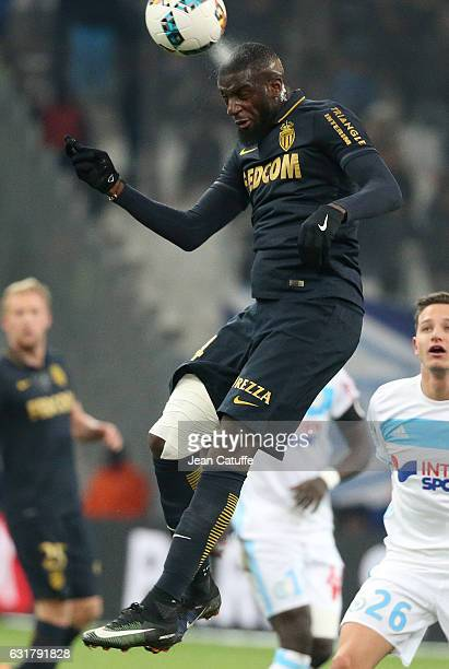 Tiemoue Bakayoko of Monaco in action during the French Ligue 1 match between Olympique de Marseille and AS Monaco at Stade Velodrome on January 15...