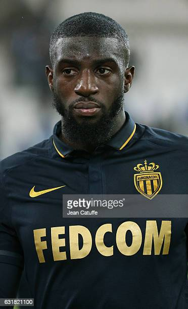Tiemoue Bakayoko of Monaco looks on following the French Ligue 1 match between Olympique de Marseille and AS Monaco at Stade Velodrome on January 15...