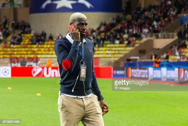 Tiemoue Bakayoko of Monaco looks on prior the UEFA Champions League quarter final second leg match between AS Monaco and Borussia Dortmund of...