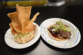 Tien Ho from Morgans Hotel Group presents his tacos at CASAMIGOS Tequila presents Tacos Tequila A Late Night Fiesta hosted by Bobby Flay during the...