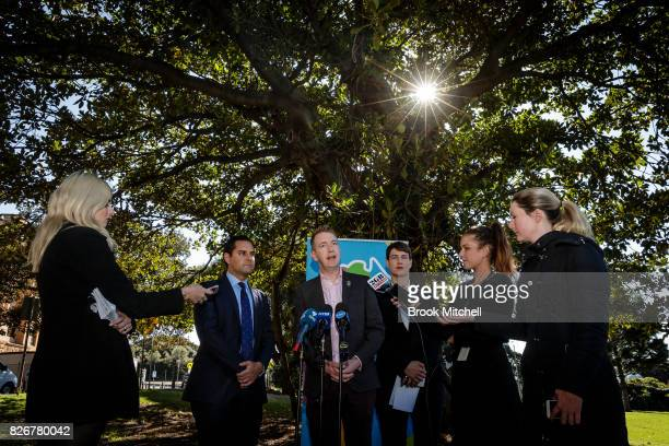 Tiernan Brady The Equality Campaign speaks alongside Alex Greenwich Australian Marriage Equality Anna Brown Human Rights Law Centre during a media...