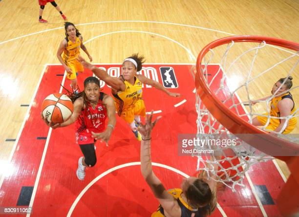 Tierra RuffinPratt of the Washington Mystics shoots a lay up against the Indiana Fever on August 12 2017 at the Verizon Center in Washington DC NOTE...