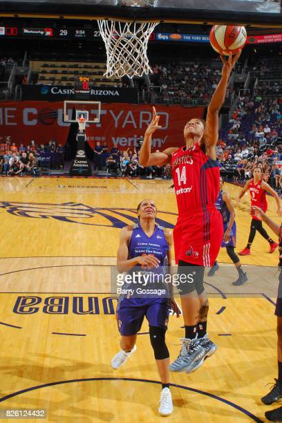 Tierra RuffinPratt of the Washington Mystics shoots a lay up during the game against the Phoenix Mercury on July 5 2017 at Talking Stick Resort Arena...