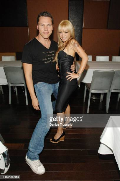 DJ Tiesto and Tila Tequila during DJ Tiesto at 9 Steakhouse at The Palms Hotel and Casino Resort at 9 Steakhouse at The Palms Hotel and Casino Resort...
