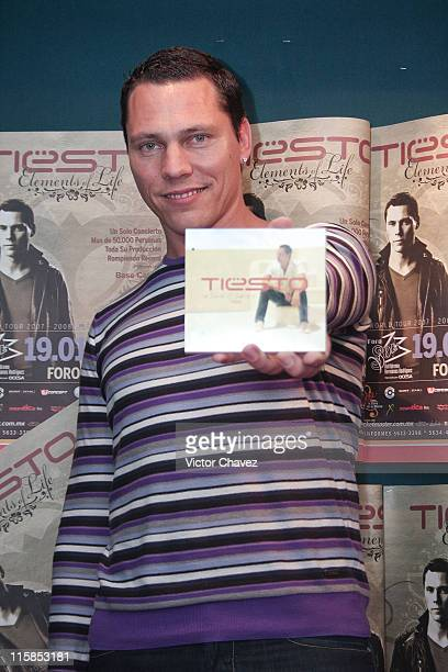 DJ Tiesto at a press conference to promote his new album 'Tiesto In Search of Sunrise 6 Ibiza' at Sony BMG on January 19 2008 in Mexico Mexico City