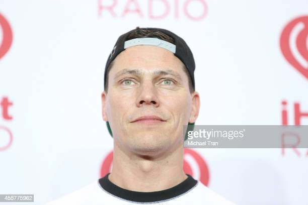 Tiesto attends the iHeart Radio Music Festival press room held at MGM Grand Resort and Casino on September 19 2014 in Las Vegas Nevada