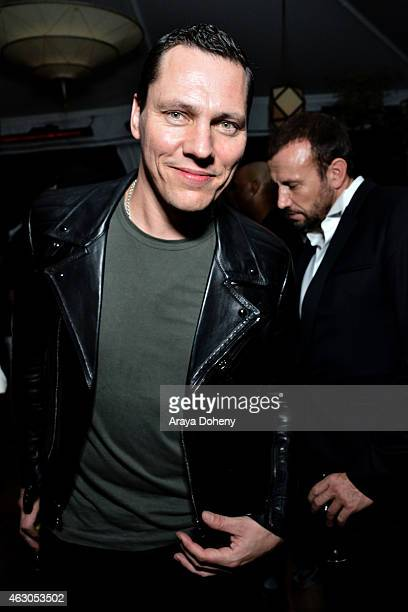 Tiesto attends the Warner Music Group annual Grammy celebration at Chateau Marmont on February 8 2015 in Los Angeles California