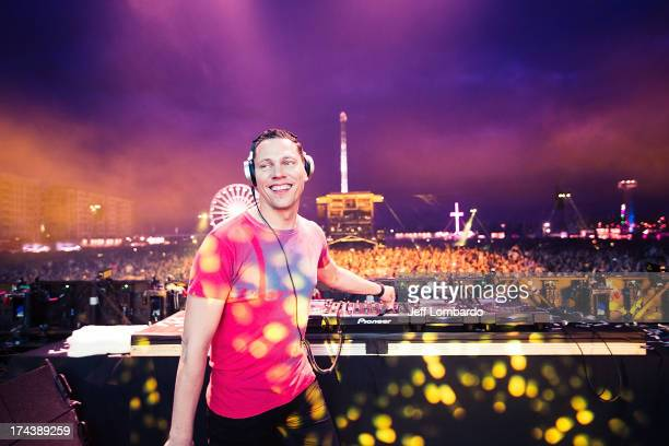 Tiesto performs at the Electric Daisy Carnival London 2013 at Queen Elizabeth Olympic Park on July 20 2013 in London England