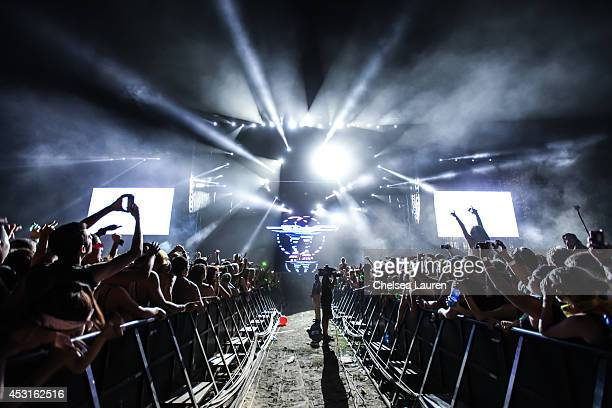 Tiesto performs during HARD Summer at Whittier Narrows Recreation Area on August 3 2014 in Los Angeles California