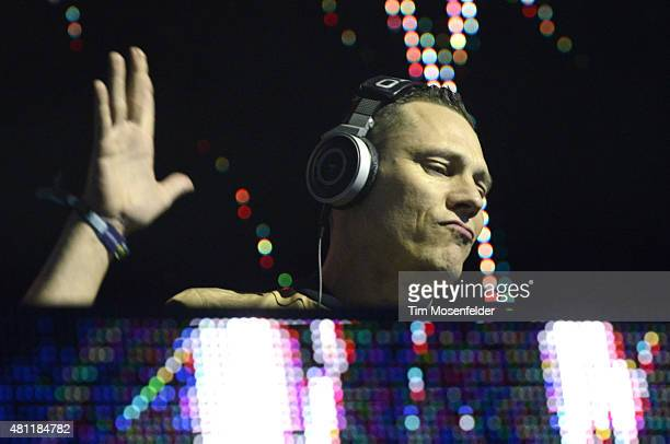 Tiesto performs during thew Pemberton Music Festival on July 17 2015 in Pemberton Canada