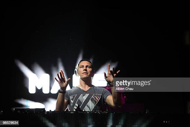 Tiesto performs on Day Two of the 2010 Coachella Valley Music Arts Festival at the Empire Polo Club on April 17 2010 in Indio California
