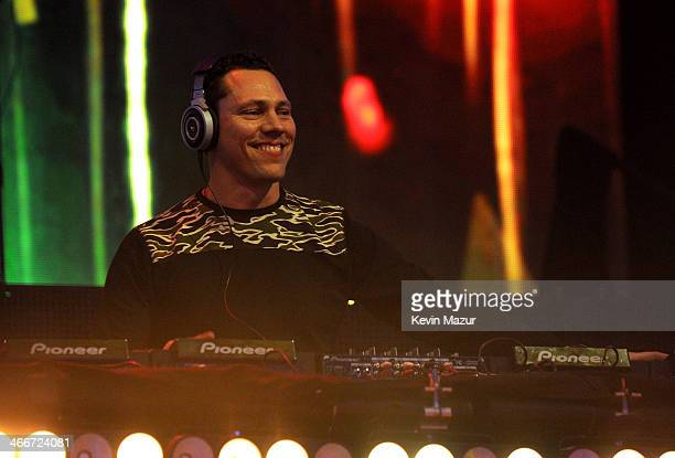Tiesto performs onstage at DirecTV Super Saturday Night at Pier 40 on February 1 2014 in New York City