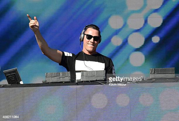 Tiesto performs onstage at the 2014 Global Citizen Festival to end extreme poverty by 2030 at Central Park on September 27 2014 in New York City