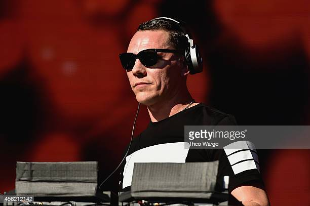 Tiesto performs onstage at the 2014 Global Citizen Festival to end extreme poverty by 2030 in Central Park on September 27 2014 in New York City