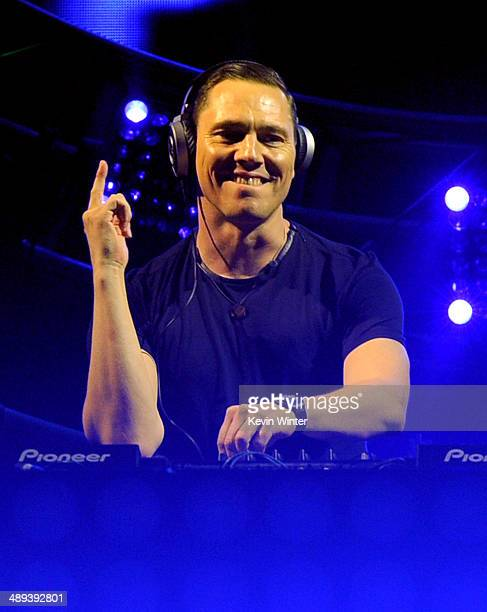 Tiesto performs onstage during 1027 KIIS FM's 2014 Wango Tango at StubHub Center on May 10 2014 in Los Angeles California