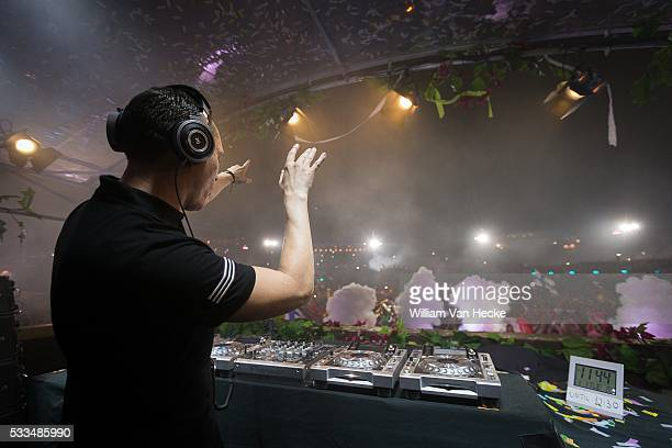DJ Tiesto pictured at day 5 of the dance festival Tomorrowland at De Schorre Boom Belgium
