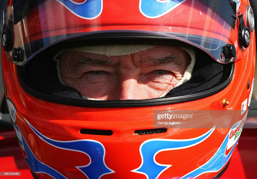 Tiff Needell, driver of the #69 Autosport Lotus 69 during the Historic Formula Ford 1600 race at the Historic Sports Car Club Thruxton Revival Meeting at the Thruxton Circuit on March 31, 2013 near Andover, United Kingdom.