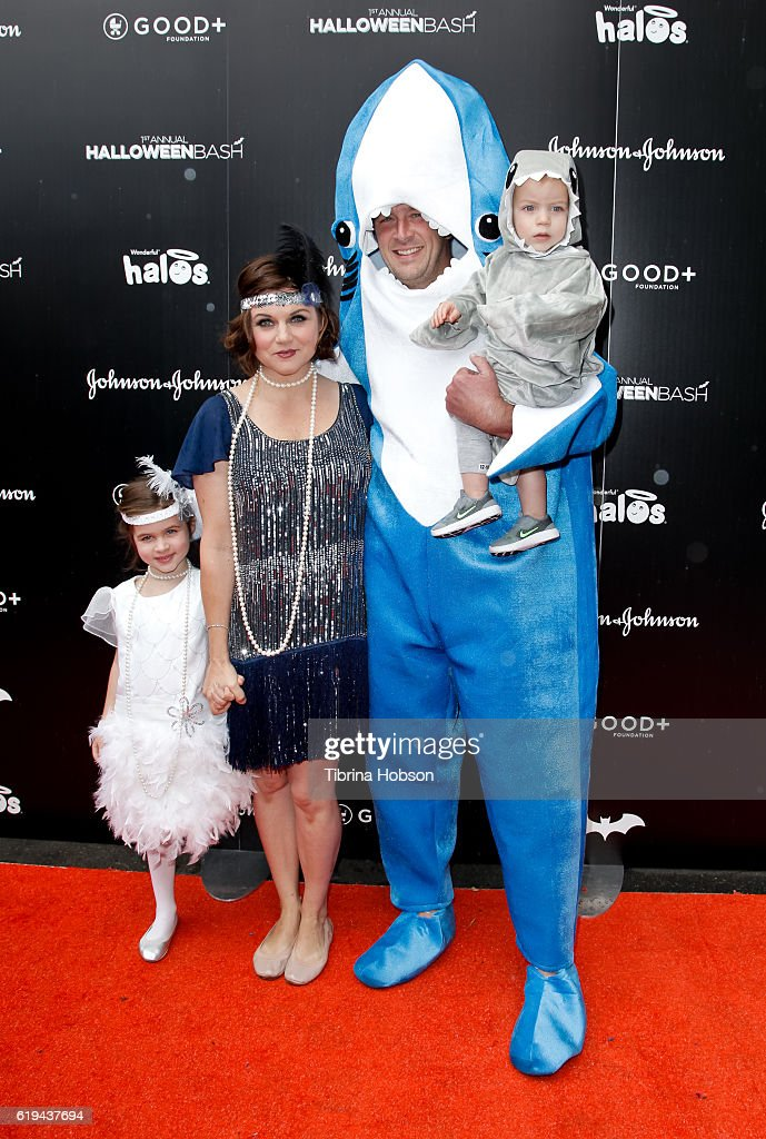 Tiffani Thiessen and Brady Smith and family attend the GOOD+ Foundation's 1st Halloween Bash at Sunset Gower Studios on October 30, 2016 in Hollywood, California.