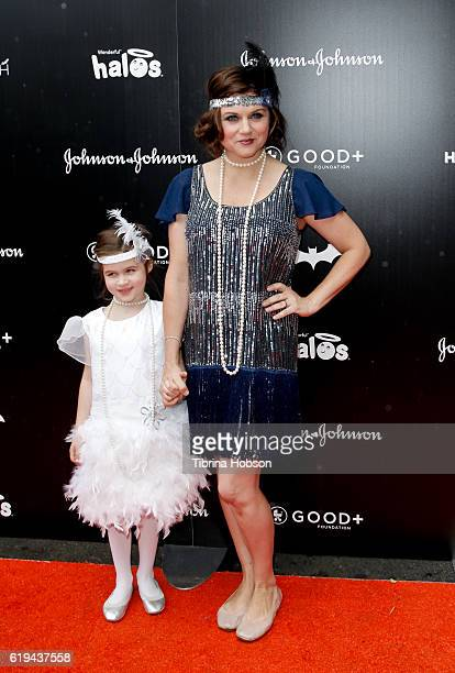 Tiffani Thiessen and her daughter Harper Renn Smith attend the GOOD Foundation's 1st Halloween Bash at Sunset Gower Studios on October 30 2016 in...