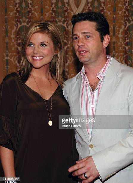 Tiffani Thiessen and Jason Priestley during Vegas Grand Prix Hosts a StarStudded Charity Gala April 5 2007 at Bellagio Resort in Las Vegas Nevada...
