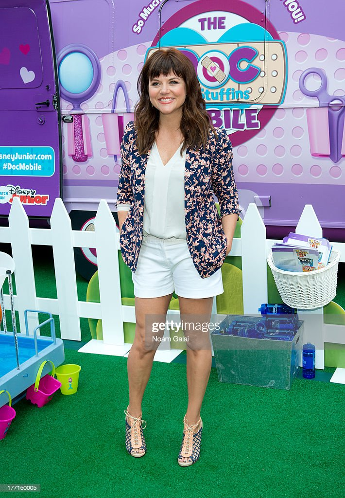 <a gi-track='captionPersonalityLinkClicked' href=/galleries/search?phrase=Tiffani+Thiessen&family=editorial&specificpeople=221649 ng-click='$event.stopPropagation()'>Tiffani Thiessen</a> attends the Doc Mobile Tour at the Disney Store on August 21, 2013 in New York City.