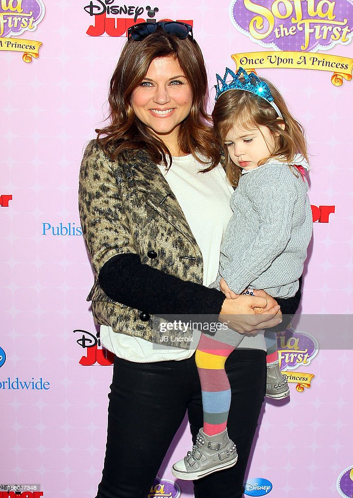 Tiffani Thiessen attends the premiere of Disney Channels' 'Sofia The First: Once Upon a Princess' at Walt Disney Studios on November 10, 2012 in Burbank, California.