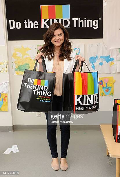 Tiffani Thiessen delivers diapers to local families in need at Little Sisters of the Assumption on March 23 2012 in New York City